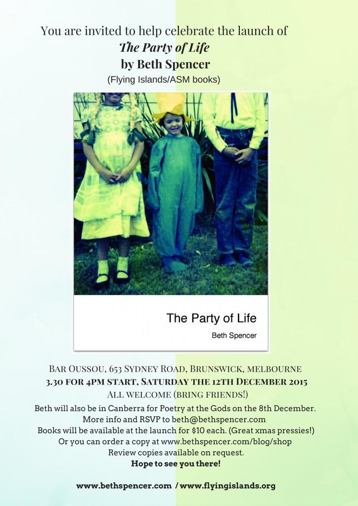 party invite Melbourne 2015